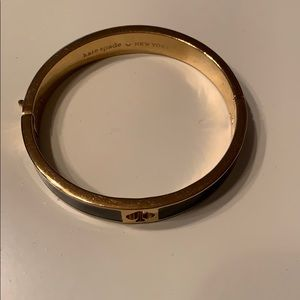 Kate Spade ♠️ Gold and Black Bracelet in EUC